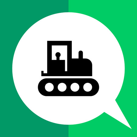 Tractor icon Illustration