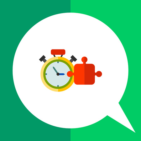 Timer and puzzle element. Task, challenge, speed. Training concept. Can be used for topics like business, consulting, training, management, banking. Illustration