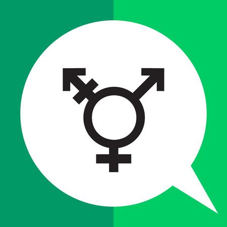 Vector icône du symbole transgenre combinant symboles de genre