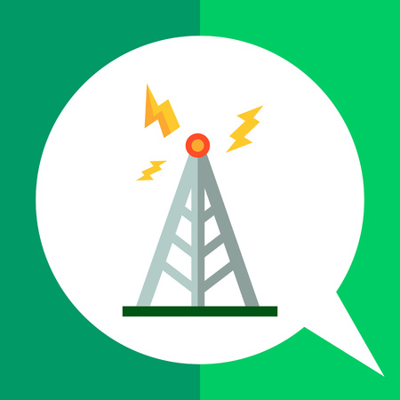 Multicolored vector icon oftower transmitting signal