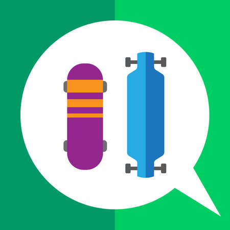 Vector icon of two different skateboard types Illustration