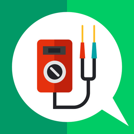 electricity meter: Multicolored vector icon of multi functional voltage indicator