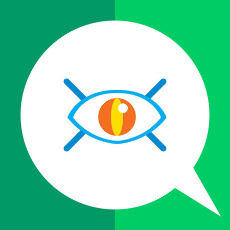 Icon of open human eye with lashes Illustration