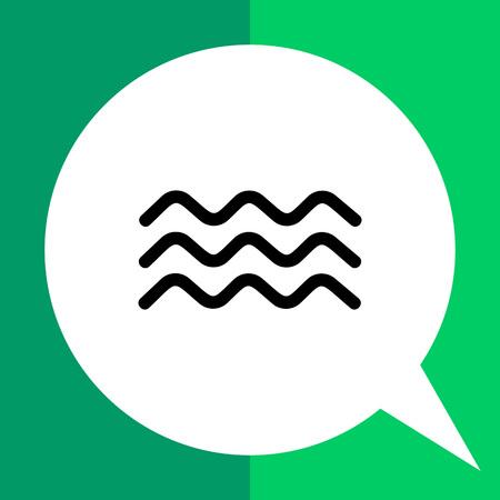 물 파도를 대표하는 세 개의 구불 구불 한 선의 단색 벡터 아이콘