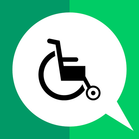 invalid: Wheelchair simple icon. Vector illustration of invalid chair
