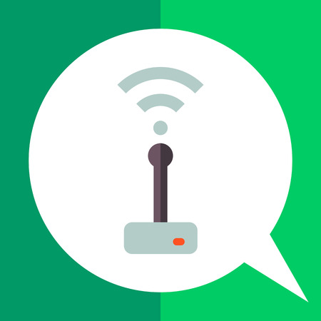 Multicolored vector icon of wifi router transmitting signal Illustration