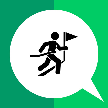 race winner: Man crossing finish line. Victory, race, achievement. Winner concept. Can be used for topics like sport, fitness, athletics.