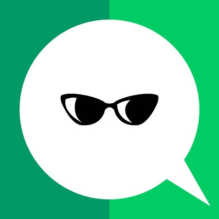 Womens sunglasses flat icon. Vector minimalistic illustration of womens accessory