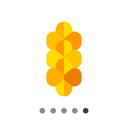 served: Multicolored vector icon of traditional braided cheese usually served as beer snack Illustration