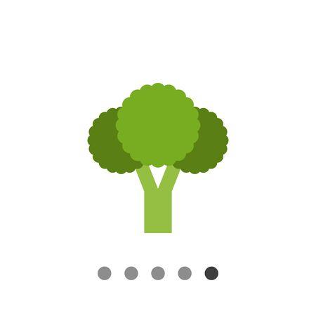 Vector icon of fresh green broccoli curd Banco de Imagens - 61433735