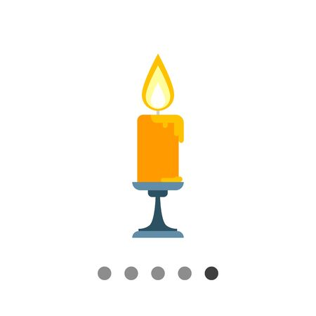 burning candle: Icon of burning candle in sconce