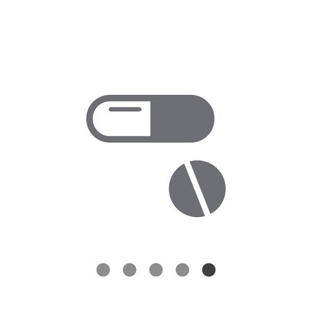 capsule: Icon of capsule and pill