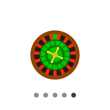 Multicolored vector icon of casino roulette wheel