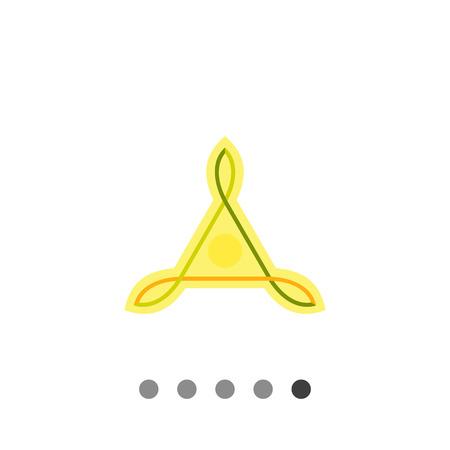 Multicolored icon of Celtic knots of triangle shape