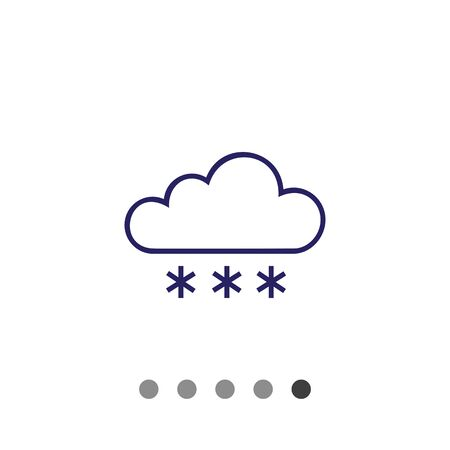 precipitation: Icon of cloud and snowflakes Illustration