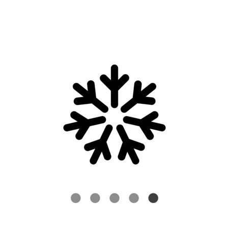 depicting: Vector icon of cold sign depicting snowflake Illustration
