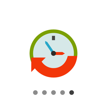 Clock with arrow. Hurry, event, date. Time concept. Can be used for topics like business, management, finance, planning.
