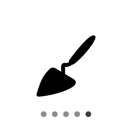 Vector icon of construction trowel with handle