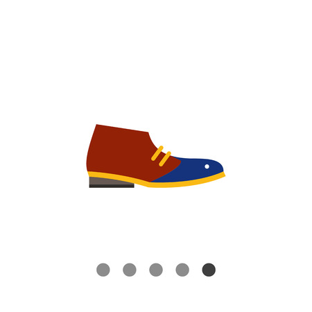 robust: Desert boot. Man, leather, style. Footwear concept. Can be used for topics like footwear, marketing, fashion. Illustration