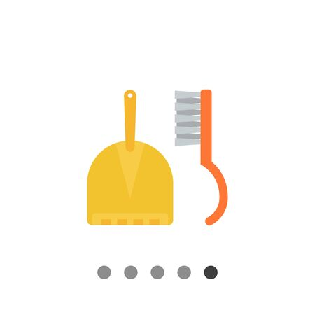 Icon of dustpan and sweeping brush