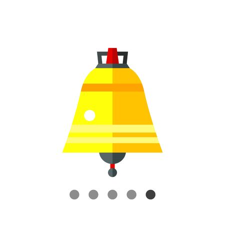 Icon of golden Easter bell with grey clapper Illustration