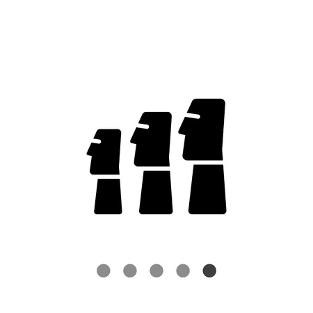 moai: Icon of Moai statues from Easter Island Vectores