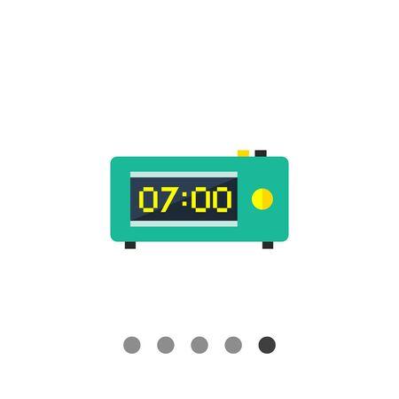 Multicolored vector icon of retro electronic alarm clock