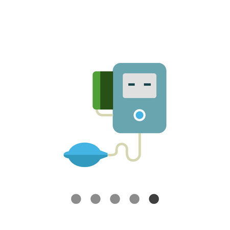 hypotension: Multicolored vector icon of medical electronic tonometer Illustration