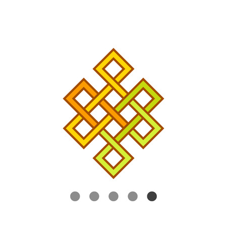 Multicolored vector icon of Indian Endless knot