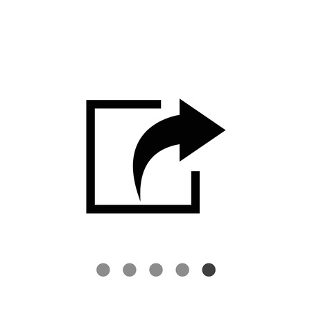 escaping: Vector icon of exit sign with arrow directed out of square
