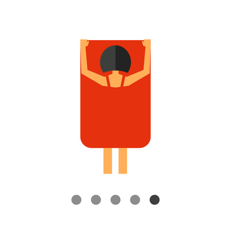 undressing: Exhibitionism flat icon. Multicolored vector illustration female exhibitionist