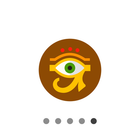 ojo de horus: Eye of Ra or Horus with circle in background. Amulet, culture, sacred. Egypt concept. Can be used for topics like Egypt, mythology, history.