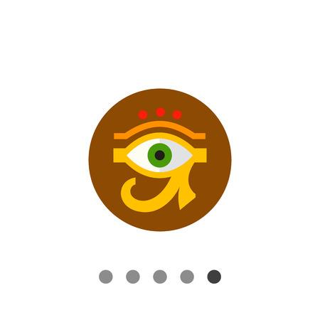 ojo de horus: Ojo de Ra Horus o con el círculo en el fondo. Amuleto, la cultura, sagrado. concepto Egipto. Puede ser utilizado para temas como Egipto, la mitología, la historia.