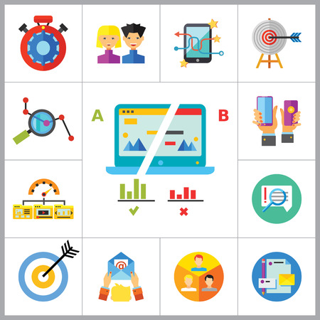 product placement: Marketing Icon Set. Targeting Users Split Test E-mail Marketing Brand Identity Marketing Analysis Social Media Marketing Processing SEO Target Hands With Smartphones Product Placement