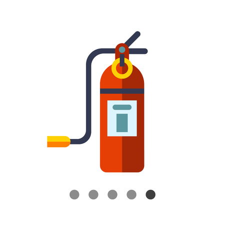 Multicolored vector icon of closed fire extinguisher
