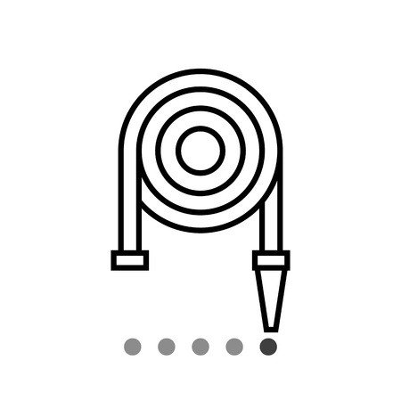 fire hose: Icon of fire hose reel