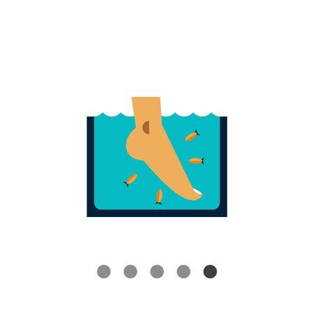 Veelkleurige vector icoon van de Garra Rufa vissen peeling