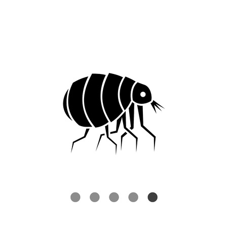 irritant: Flea closeup. Pet, insect, hair. Parasite concept. Can be used for topics like veterinary medicine, biology, healthcare. Illustration