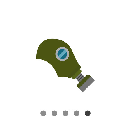 Multicolored vector icon of army gas mask