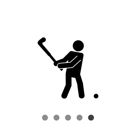 golfer swinging: Swinging golf player and ball. Course, nature, healthy. Golf concept. Can be used for topics like golf, sport, games. Illustration