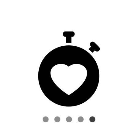 heart rate monitor: Icon of heart rate monitor