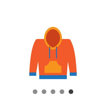 hoody: Vector icon of yellow and blue hoody sweatshirt