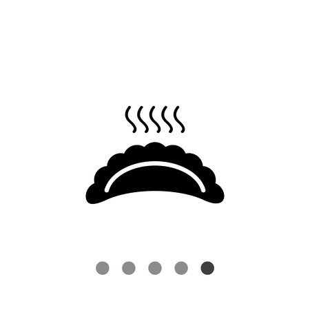 Vector icon of hot ravioli with steam Stock Vector - 61853632