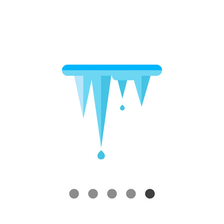 icicles: Multicolored vector icon of melting icicles representing ice concept