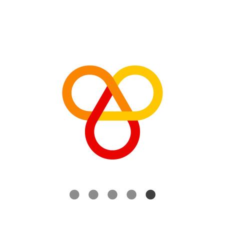Multicolored vector icon of infinite knot, one of eight auspicious symbols
