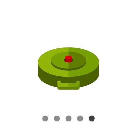 land mine: Land mine. Explosion, danger, hidden. Bomb concept. Can be used for topics like war, weapon, technology. Illustration
