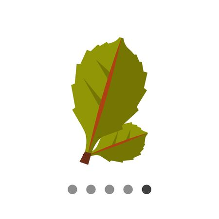 rheum: Multicolored vector icon of two green leaves Illustration