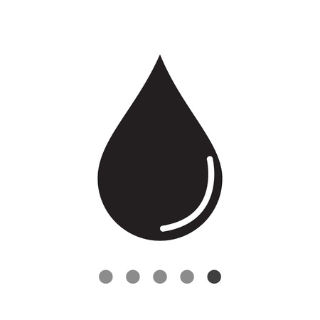 reflection: Vector icon of liquid drop with reflection