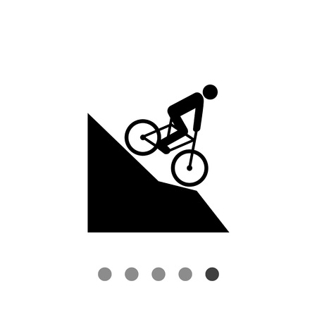 mountain bicycling: Man riding mountain bike downhill. Extreme, fast, fun. Mountain bike concept. Can be used for topics like sport, lifestyle, bicycling.