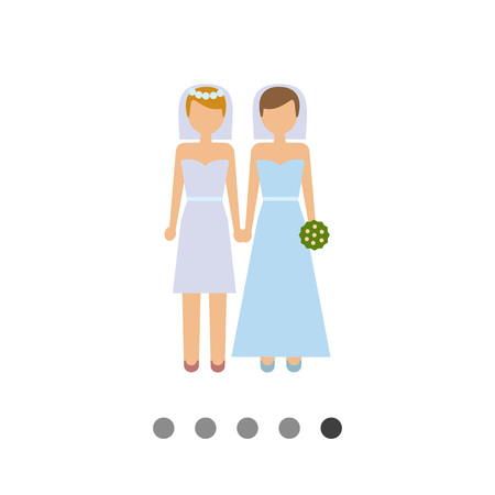 Icon of two brides Illustration